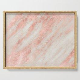 Desert Rose Gold Pink Marble Serving Tray