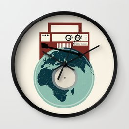 Music Will Save The World - Pablo Casals Quote Wall Clock