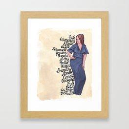 Blue Affirmations! Framed Art Print