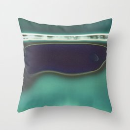 Instant Series: Teal Throw Pillow