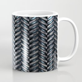 Alien Columns - White and Blue Coffee Mug