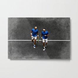 Nadal & Federer Metal Print