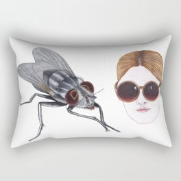 eyefly and sunglasses Rectangular Pillow