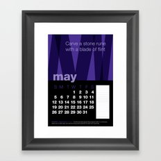 2013 Pigment to Pantone Calendar – MAY Framed Art Print