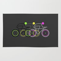 posters Area & Throw Rugs featuring Olympic Posters - Cycle  by Samar