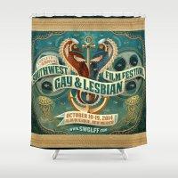 lesbian Shower Curtains featuring Southwest Gay & Lesbian Film Festival 2014 by Way OUT West Film Fest