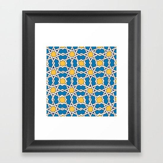 Morocco ornament Framed Art Print