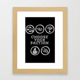 Divergent - Choose Your Faction (White) Framed Art Print