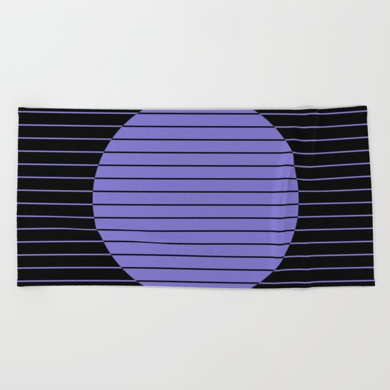 Difference (Minimalistic, pastel blue and black, geometric design) Beach Towel