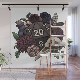 Necromancer D20 Tabletop RPG Gaming Dice Wall Mural