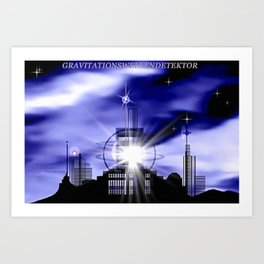 Gravitationsdetektor. Art Print