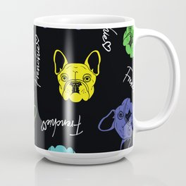 Frenchie Love Pop Art Pattern Design. Perfect for Dog Lovers Coffee Mug