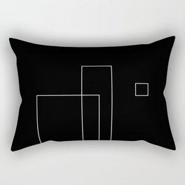 Simple Black Rectangular Pillow