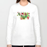 xmas Long Sleeve T-shirts featuring Xmas monsters by Maria Jose Da Luz