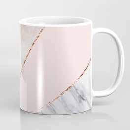 Spliced mixed rose gold marble Coffee Mug