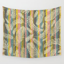 Feathers and Stripes Wall Tapestry
