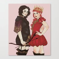 sansa Canvas Prints featuring A Queen & her Knight by Noble Demons