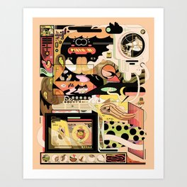FondueBrain Art Print