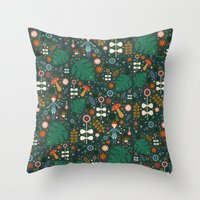 nausicaa Throw Pillows featuring Nausicaa by Carly Watts