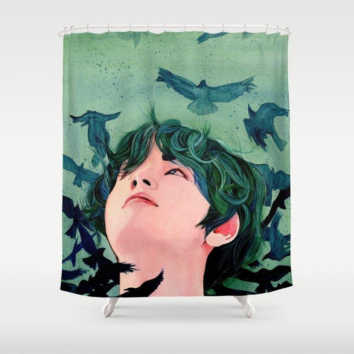 Taehyung BTS Faith Shower Curtain