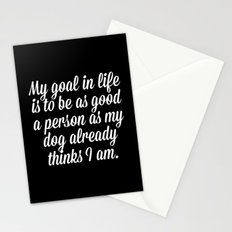 Goal In Life Funny Quote Stationery Cards