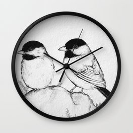 Two Birds With One Stone Wall Clock