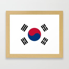 National flag of South Korea, officially the Republic of Korea, Authentic version - color and scale Framed Art Print
