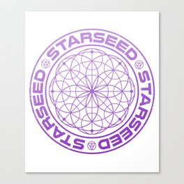Starseed Scared Geometry Canvas Print