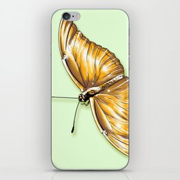 Papillon jaune iPhone Skin