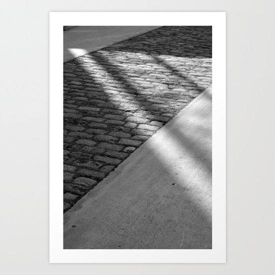 sunlight on pavement Art Print
