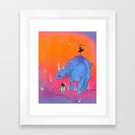 The Three Awkward Travelers and the Mysterious Whatsit Framed Art Print