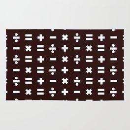 Math Pattern Rug