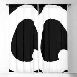 monogram q- black and white Blackout Curtain