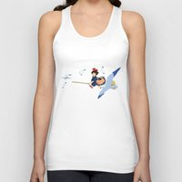 kiki Tank Tops featuring Kiki by 8-bit Ghibli