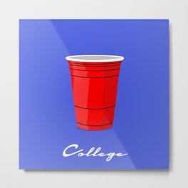 College Red Cup Metal Print