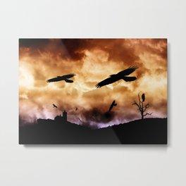 Crows and clouds Metal Print
