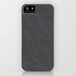 Grey Cloth iPhone Case