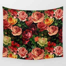 Vintage & Shabby chic - floral roses flowers rose Wall Tapestry