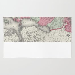 Vintage Map of Norway and Sweden (1865) Rug