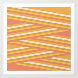 stripey sunny square Art Print