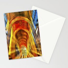 Bath Abbey Sun Rays Van Gogh Stationery Cards