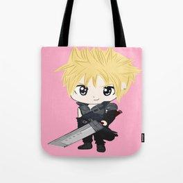 pink chibi cloud Tote Bag