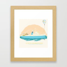 Let Me Tell You About My Boat - The Belafonte Boat Art - The Life Aquatic Steve Zissou Art Framed Art Print