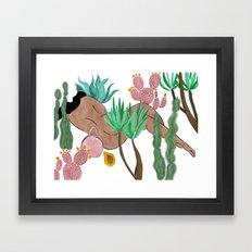 Garden Nap Framed Art Print
