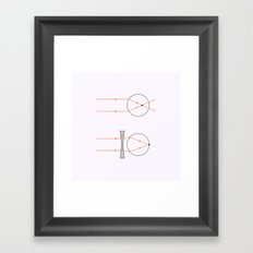 Prisms & Lenses - Concave Framed Art Print