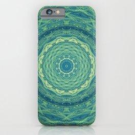 Green Elevation Mandala iPhone Case