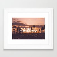 california Framed Art Prints featuring California by thecrazythewzrd