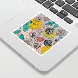 Olga loves flowers Sticker