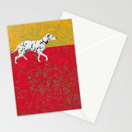 Dalmation in red and yellow Stationery Cards
