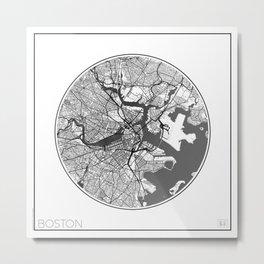 Boston Map Universe Metal Print